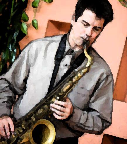 Mark Lessman on sax